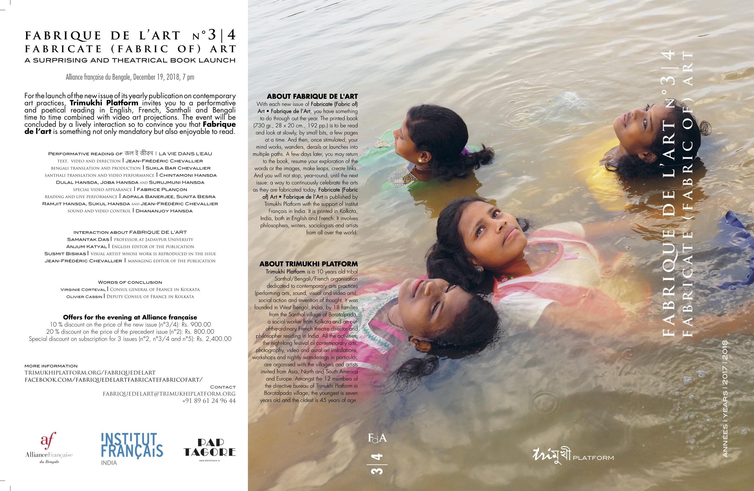 Fabrique de l'art n°3/4 => a surprising and theatrical book launch